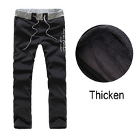 Mens Sport Pants Winter Trousers Thicken Casual Outdoor Joggers Sport  Male Pants Plus Velvet