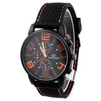 GT F1 Racing Men's Sports Watch Hot Sale Fashion Quartz Male Silicone Stylish Wrist Watch#L05666