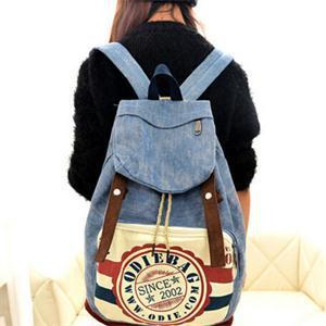 2015 Casual New Letter Zipper Softback Canvas Backpacks for Women Fashion Preppy Style Sport School Bag