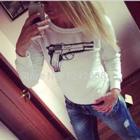 Hot-selling sweatshirt fashion personalized print sexy wild sexy plus size pullover basic shirt