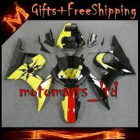 * For yamaha YZFR6 2003 2004 2005 yellow black Fairing Bodywork Kit W2 Fit For yamaha YZF R6 2003 2005 R6S 2006 2009 23