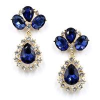 2014 New fashion women statement full crystal stud Earrings for women fashion earring Factory Price wholesale women gift