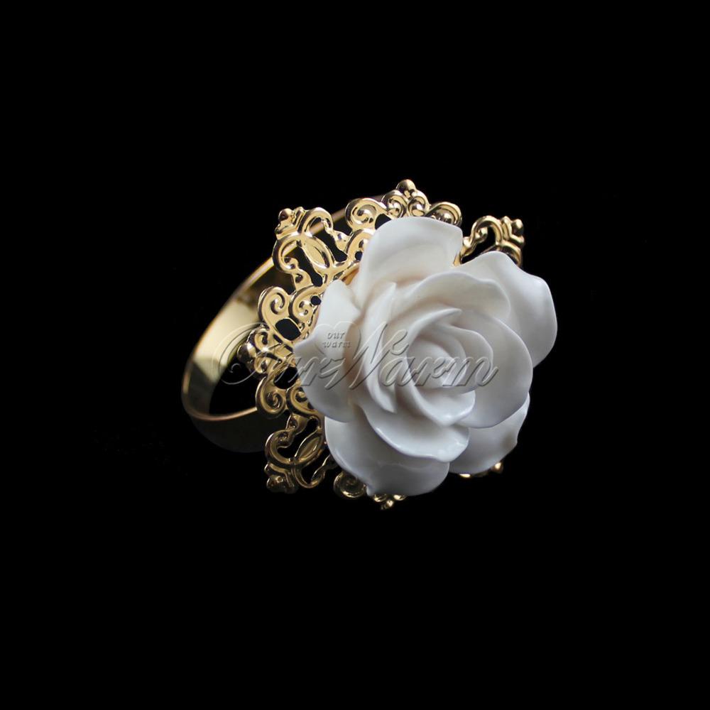 Кольцо для салфеток Ourwarm 100pcs/lot , CJH-JMG-Q-WHT-100 кольцо для салфеток quaeas aliexpress qn13030707