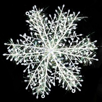 D19  hot-selling newest 30pcs White Christmas Snowflake Hanging Decoration Tree Home Festival Decor 18cm Free Shipping