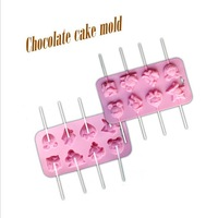 Cartoon cute different style lollipop silicone bakeware, ultra-soft, easy to mold, DIY handmade molds, chocolate mold