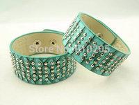 Wholesales bracelets for women 22X4cm  Punk Rivet Wrap Bracelets leather