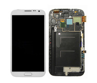 LCD Display Touch Digitizer + Frame For SamSung Galaxy Note 2 II N7100 White  Color