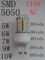 110V led bulb SMD 5050 G9 led corn lamp bulb lights white/warm white
