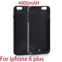 """For Apple iphone 6 Plus 5.5"""" Inches 4800mAH Power Bank Case Portable Rechargeable External Backup Battery With Stand 2014 New"""