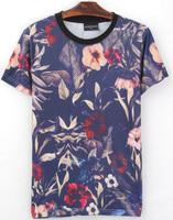 Patterns Beautiful Flowers 3D Printed T-Shirt Women Men Tee Shirt Streetwear