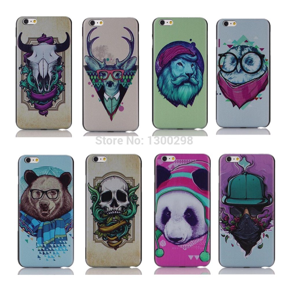 """Hot Sale New Arrive domineering personality For iphone6 black white Zebra back cover case for Iphone 6 4.7"""" Promotion Painted(China (Mainland))"""