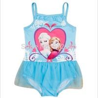 2015 new frozen swimsuit baby childrens Swimwear,14OCT236