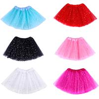High Quality Full Skirt With Sequins For Girl Skirt Elegant Princess Petticoat 2014 Summer Novelty Tutu Skirt Free Shipping