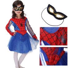 Spider Girl Costume Halloween Costume For Kids crianças Anime Cosplay desempenho traje traje extravagante para meninas crianças(China (Mainland))