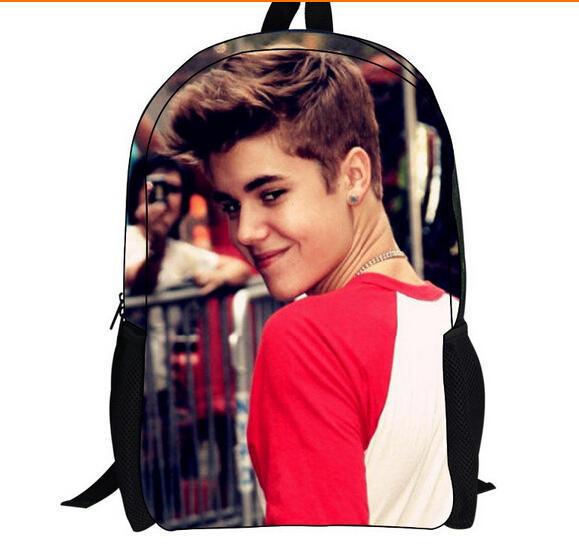 2014 vente chaude de haute qualité Justin Bieber 3D sacs d'école ...