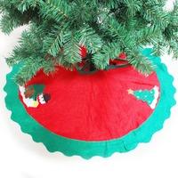2014 New Vintage Christmas Tree  Apron Decorations Xmas Santa Claus  Red Tree Skirt Decration 90CM  FRESS SHIPPING  Fashion Hot