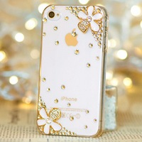 New Luxury 3D daisy Bling Crystal Diamond Case Cover For iPhone 6 6 plus 5 5g 5s 5c 4 4g 4s 3g 3gs Retail Package Accessory