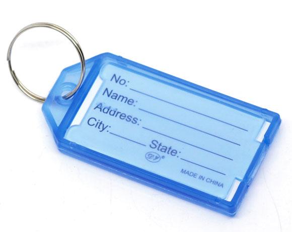 20 x Etiqueta Llavero para Llave Tarjeta de ID Numero - Verde T5
