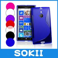 [case]200pcs/lot Lumia 1520 SLline TPU cover, S Line  Wave Gel Case Cover For Nokia Lumia 1520