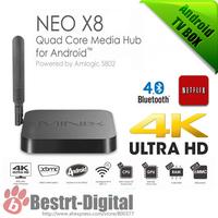 4K MINIX NEO X8 Android TV Box Amlogic S802 Quad Core 2.0GHz 2G/8G 2.4G/5GHz WiFi XBMC Player IPTV Smart TV Media Box Mini PC