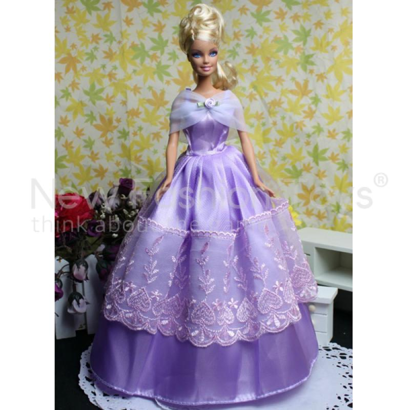 Mixed 5 Fancy Dress + 12 Pairs Shoes and Boots + Small Parts for Doll Cloth Free Shipping(China (Mainland))