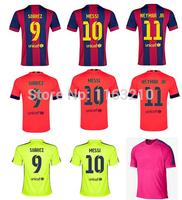 Top Thai quality!!! 2015 Barcelone home away Soccer futbol jerseys 14 15 Barcelono football shirts free shipping customized