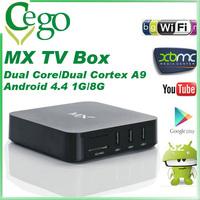 Original MX TV Box Android 4.4 MX2 Dual Core Amlogic XBMC Midnight GBOX 1GB/8GB ROM Dual ARM Cortex A9 WiFi Build In Mini PC