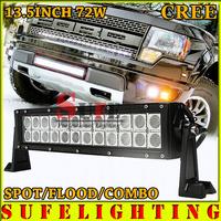 FREE DHL SHIP 13.5 INCH 72W CREE LED LIGHT BAR OFFROAD TRUCK 4X4 LED DRIVING LIGHT BAR WORKING LIGHT BAR CAR HEAD LIGHT 120W
