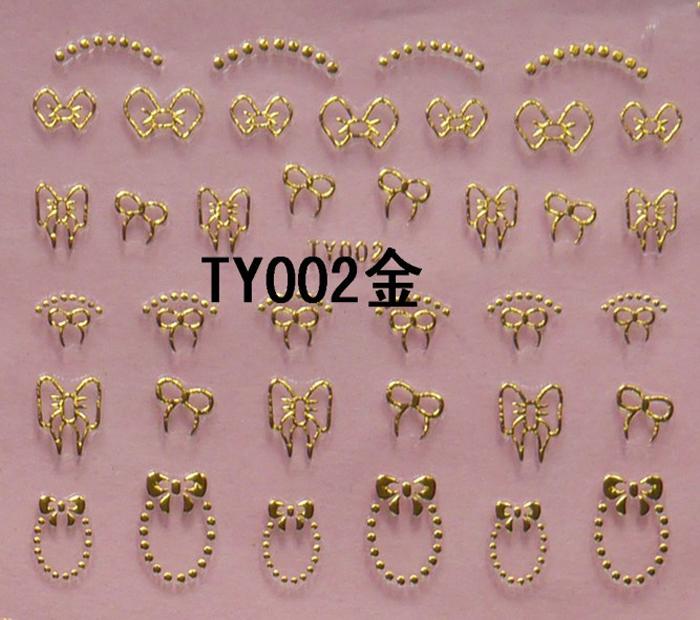 3D glitter diy bowknot Metal Water Transfer nail art decorations styling tools nail sticker stamping Water Transfer nail art(China (Mainland))