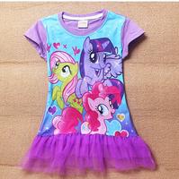 3-10Years My little pony Children Kids Girls Dress New My little pony Dress Girls Dresses summer girls dresses Free shipping