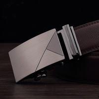 Classic fashion Design Men's brand leather Belt with Automatic buckle  men's leather strap