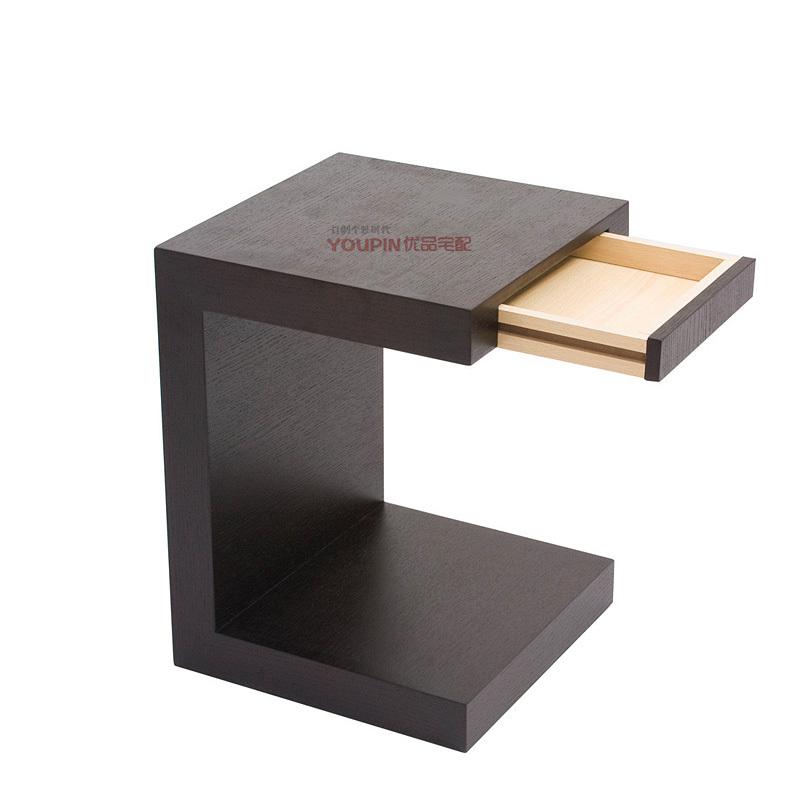 Online kopen wholesale zwart lederen nachtkastjes uit china zwart lederen nachtkastjes - Tafel een kribbe stijl industriel ...