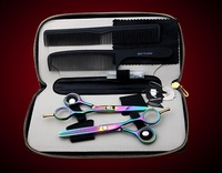 SMITH CHU hair scissors professional hairdressing tools flat cut + thinning shears 2 PCS set + kits+combs-k072
