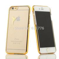 New creative laser carving design Manneken Pis/Angel girl/Zegapain hold on logo phone cases for iphone 6 4.7 inch capa celular