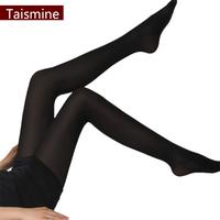 FREE SHIPPING 120D Autumn   thickening stockings pantyhose  long thick black stockings female velvet socks