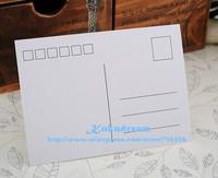 30pcs/lot Single-side Blank DIY Greeting Cards you can random design postcards free shipping