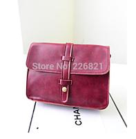 2015 New Women's Handbag Vintage School Shoulder Small Bag PU Leather Bags Women Messenger Bags Cheap Soft Cute Girls Wallets