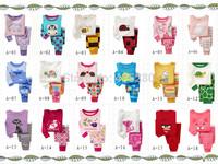 Free shipping 2 pcs set baby boy girl kids sleepwear suit toddler cartoon pajamas Retail Children 100%cotton long sleeve pajamas
