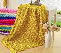 Three-dimensional rose flower wedding cloth table cloth carpet cloth cutout formal dress wedding dress fabric