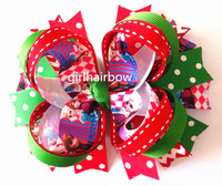 """Factory Direct 5"""" Frozen Stacked Hair Bow Elsa Princess School Hair Bow YM-B068-29"""