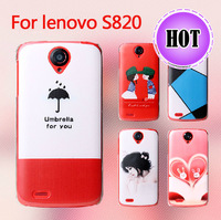 New Fashion Cute Printed Colored Drawing Plastic Back  Case For Lenovo S820  Cover  Free shipping