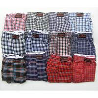 Hot 100% Woven Cotton Men'S Underwear Boxers Male Leisure Home Loose Plaid Shorts CuecaS Underpants 5 Pcs/Lot Good Quality
