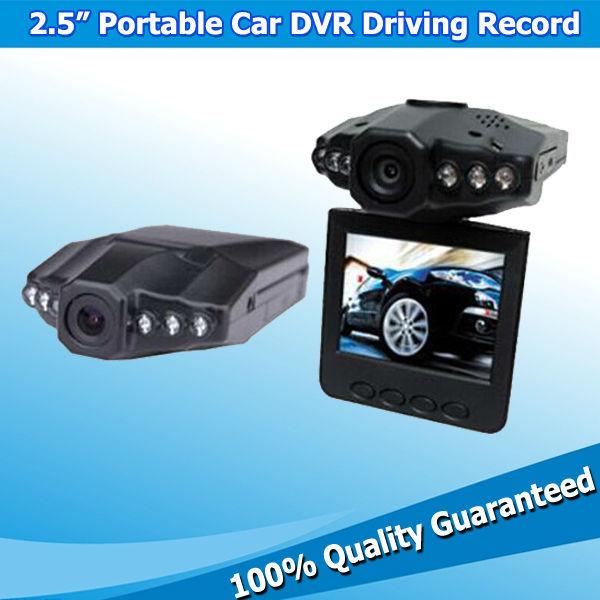 New Mini Audio Recorder 2.5 inch HD LCD 6 IR LED Car DVR Video Rotatable Camera Camcorder(China (Mainland))