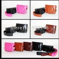 100% New Camera PU Leather Case Camera Bag Cover For Sony DSC-RX100III M3 RX100 III RX-100 RX100III RX100 M3 Free shipping