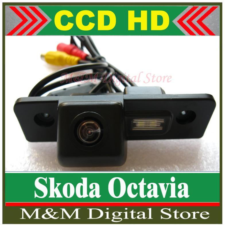 HD CCD Car Rear View Camera Reverse Parking Camera back up Camera for Skoda Octavia night vision waterproof Camera MM(China (Mainland))