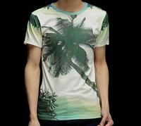 Green Coconut Tree Maunsell 3D Printed T-Shirt Women Men Tee Shirt Streetwear