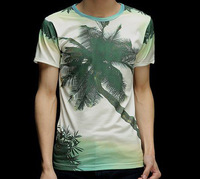 Green Coconut Tree Maunsell 3D Printed T-Shirt Women Men Tee Shirt Streetwear