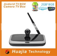 Original CS918S Android TV Box Webcam 5.0MP Smart TV Camera Allwinner A31S Quad Core 2G/16G XBMC Bluetooth HDMI Mini PC TV