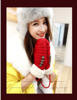 Fashion Women Knit Wool Cashmere Button Halter Twist Gloves Warm Winter Christmas Gift for Girls Fleece Wrist Mittens Thickening