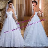 New Arrival Custom Made Fashionable A Line Sweetheart Lace Appliques Brides Wedding Dress 2015 Vestido De Noiva Curto